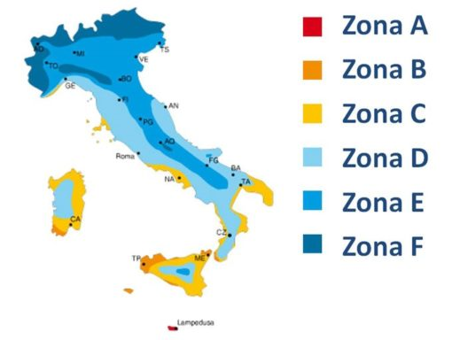 Cartina Zone climatiche